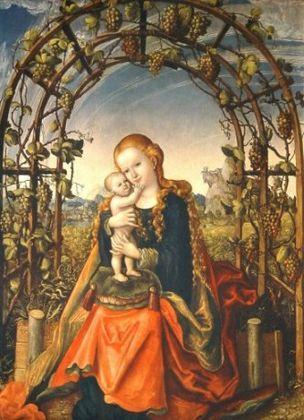 Lucas Cranach Madonna in der Weinlaube