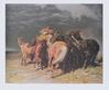 Alfred Roloff Pferde im Gewitter