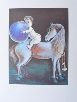Jiri Georg Dokoupil Junge mit Pferd