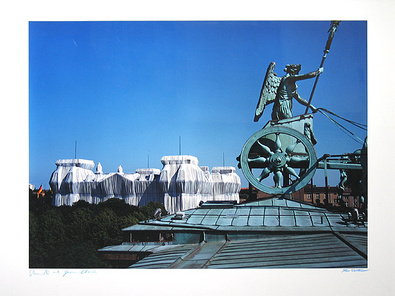 Christo Foto Wrapped Reichstag Berlin I