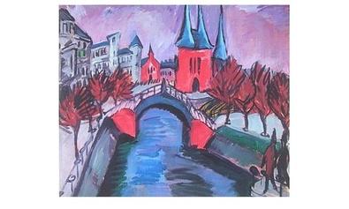Ernst Ludwig Kirchner Rotes Elisabethufer in Berlin