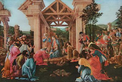 Sandro Botticelli Die Anbetung der Heiligen Drei Koenige