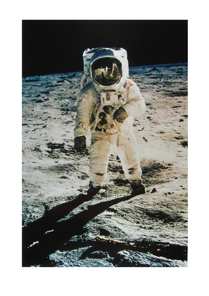 NASA Astronaut Edwin Aldrin on the Moon (Flight APOLLO 11) July 1969