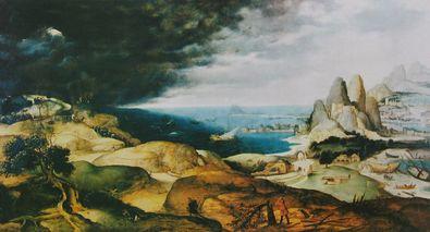 Pieter Brueghel Landschaft mit der Busse des Hl Hieronymus