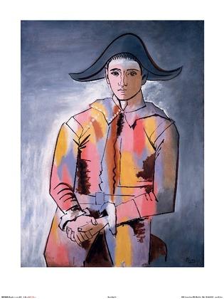 Pablo Picasso Arlequin, les mains croisee, 1923
