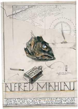 Horst Janssen Alfred Mahlau - Fisch
