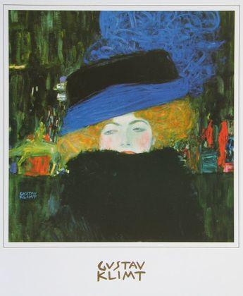 Gustav Klimt Dame mit Hut und Federboa   1909