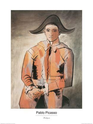 Pablo Picasso Harlekin mit gefalteten Haenden