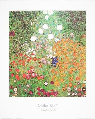 Gustav Klimt Bluehender Garten (mit Titel)