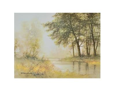 G. Neswadba Bruecke am Teich