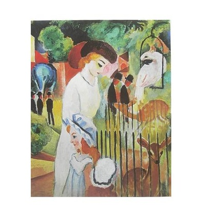 August Macke Grosser Zoologischer Garten Triptychon