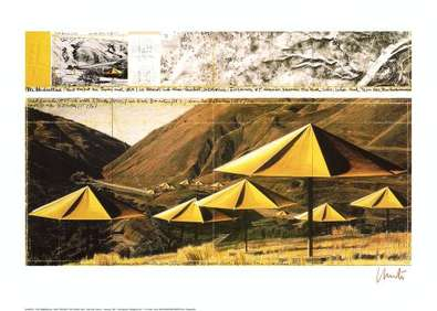 Christo Umbrellas Yellow I  (signiert)