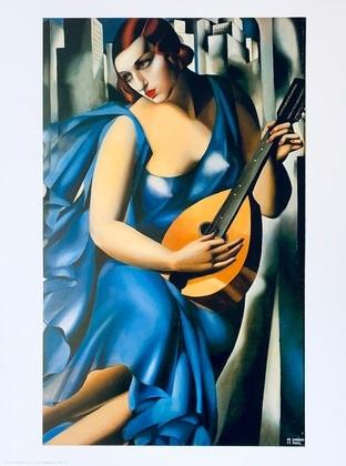 Tamara de Lempicka Dame in Blau