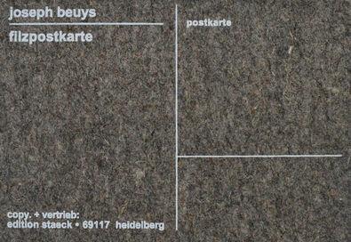 Joseph Beuys Filzpostkarte