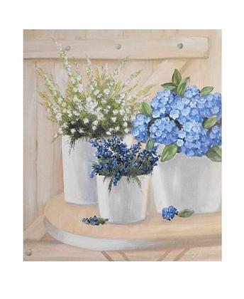 Georg Franke Blumentoepfe mit Veilchen