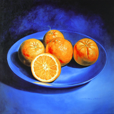 Michael Loeb Still Life with Oranges