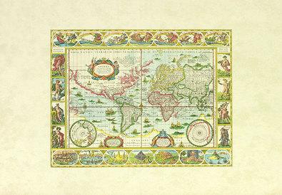 Nicht bekannt Antike Weltkarte