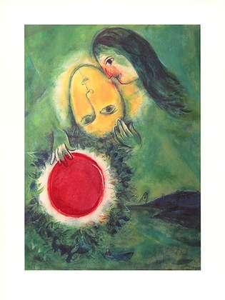 Marc Chagall Gruene Landschaft (1949)