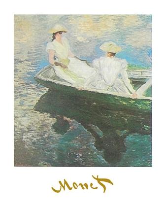Claude Monet Junges Maedchen im Boot