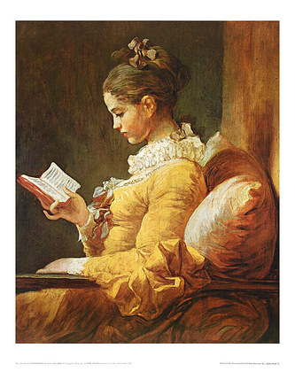Jean-Honore Fragonard A Young Girl Reading