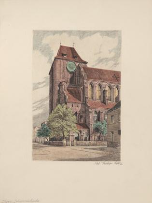 Fischer-Lenz Thorn Johanniskirche (coloriert)