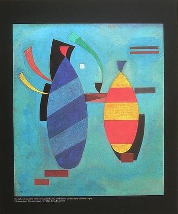 Wassily Kandinsky Beide gestreift