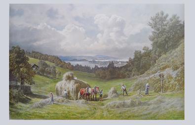 Max Vogt-Vilseck Heuernte am Staffelsee