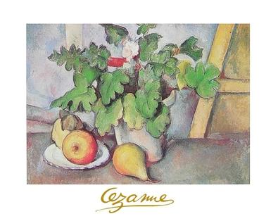 Paul Cezanne Blumen und Birnen