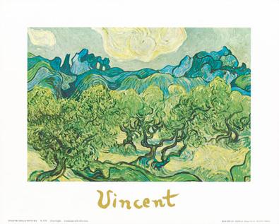 Vincent van Gogh Landscapes with olive trees