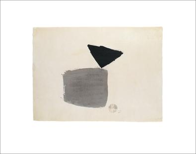 Julius Bissier Viereck und Dreieck 4.10.48, 1948