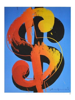 Andy Warhol Dollar 1 blau