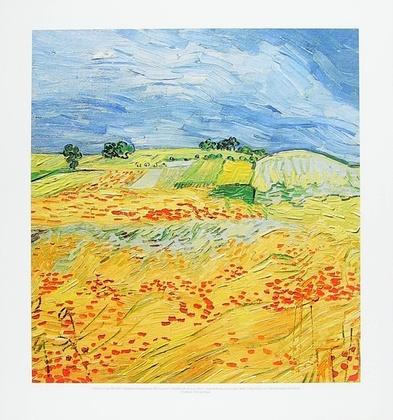 Vincent van Gogh Weizenfeld mit Gewitterhimmel
