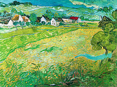 Vincent van Gogh Sonnige Wiese bei Auvers 1890