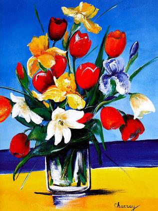 Marie-Pierre Charnay Bouquet De Tulipes II