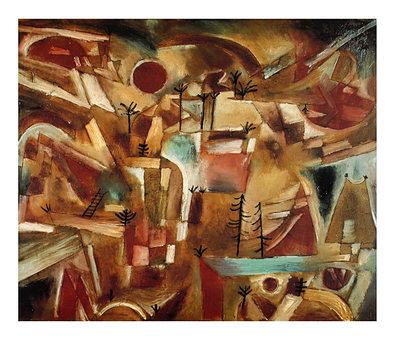Paul Klee Felsenlandschaft mit Palmen und Tannen, 1919