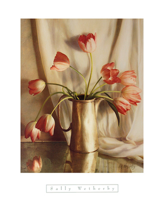 Sally Wetherby Tulips in Pewter