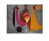 Joan Miro Komposition mit Figuren im eingeaescherten Wald