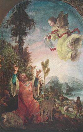 Wolf Huber Verkuendigung an Joachim
