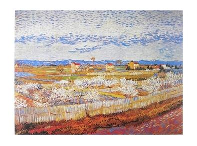Vincent van Gogh Bluehende Pfirsichbaeume in La Crau