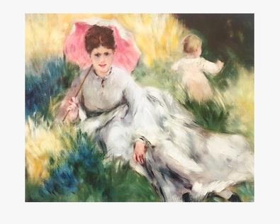 Pierre Auguste Renoir Dame und Sonnenschirm
