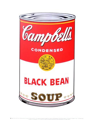 Andy Warhol Campbell's Soup I 1968 (black bean)