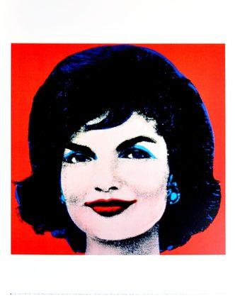 Andy Warhol Jackie 1964 (on red)