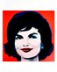 Warhol andy jackie 1964 on red l