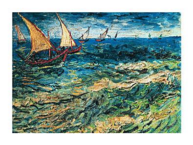 Vincent van Gogh Seascape at Saintes Maries