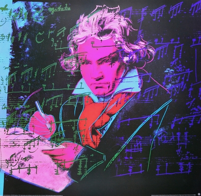 Andy Warhol Beethoven rot ( gross )