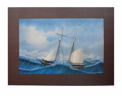 P. C. Holm Schonner Gloria von Blankensee in einem Storm in der Nordsee