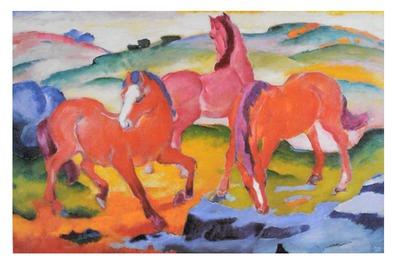 Franz Marc Die roten Pferde, 1911