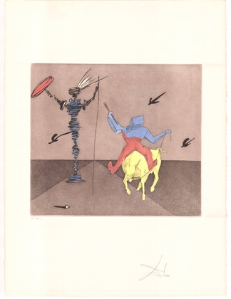 Salvador Dali Don Quijote (C) - Meister und Knecht
