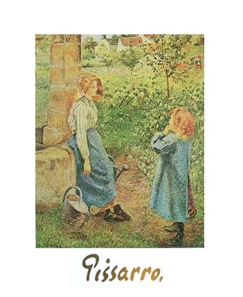 Camille Pissarro Frau mit Kind am Brunnen