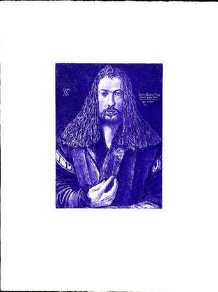 Albrecht Duerer Selbstbildnis Blau